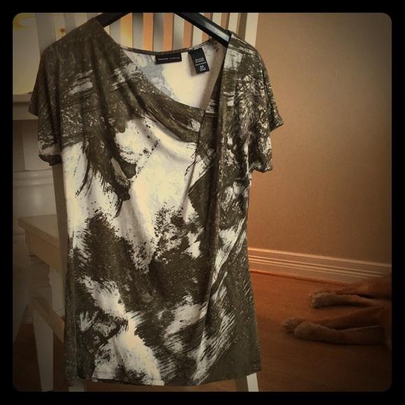 New York & Company Tops - New York & Company olive green blouse